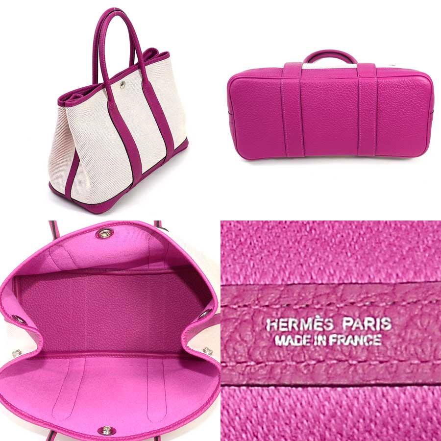 Brandvalue Hermes Handbag Tote Bag Garden Party 30 エクリュ X