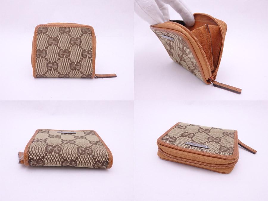 quality design 67e37 1dacc 115255 Gucci Gucci coin case GG canvas brown x orange brown canvas x  leather coin purse wallet Lady's men - e38167