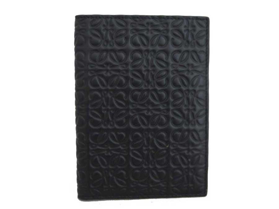 ロエベ LOEWE マルチケース アナグラム ブラック レザー カードケース パスポートケース 【中古】【おすすめ】 - e37009