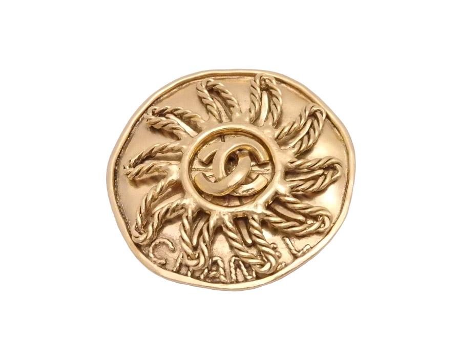 0904286dda7dcf シャネル ココマーク ブローチ ピンブローチ 金属素材 ゴールド 【中古】 - e37061 シャネル CHANEL