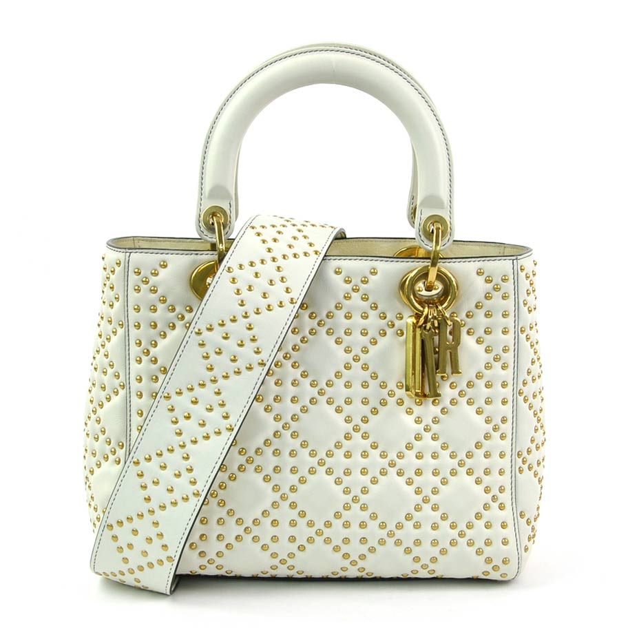 927ba0812 BrandValue: Christian Dior handbag shoulder bag 2Way bag lady Dior  off-white x gold leather x metal material Christian Dior Lady's premium  special feature ...