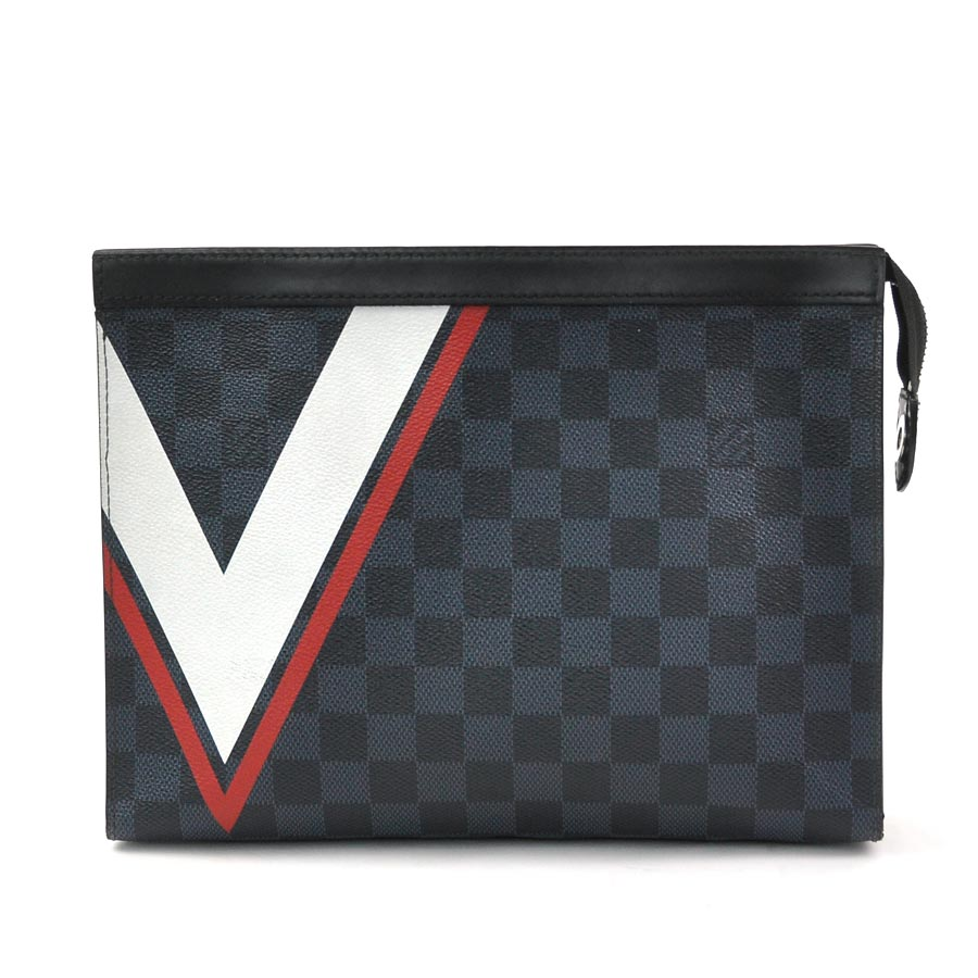 acf4f9accec Louis Vuitton clutch bag second bag AMERICA'S CUP 2017 ダミエ cobalt pochette  ヴォワヤージュ MM ダミエ co-Baru Mieko Toda Barthes canvas ...