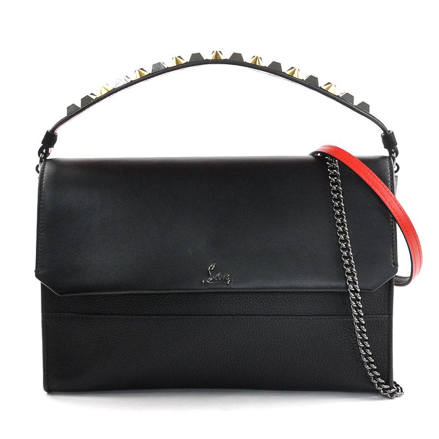 5aa8b599f4c クリスチャンルブタンハンドバッグショルダーバッグ 3Way bag clutch bag LOUBIBLUES black leather  Christian Louboutin Lady's ...