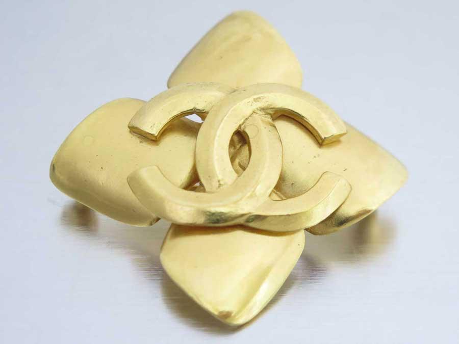 27932c90b696db 【おすすめ】 【中古】シャネル【CHANEL】ココマーク ヴィンテージ ブローチ ピンブローチ ロゴブローチ レディース ゴールド 金属素材