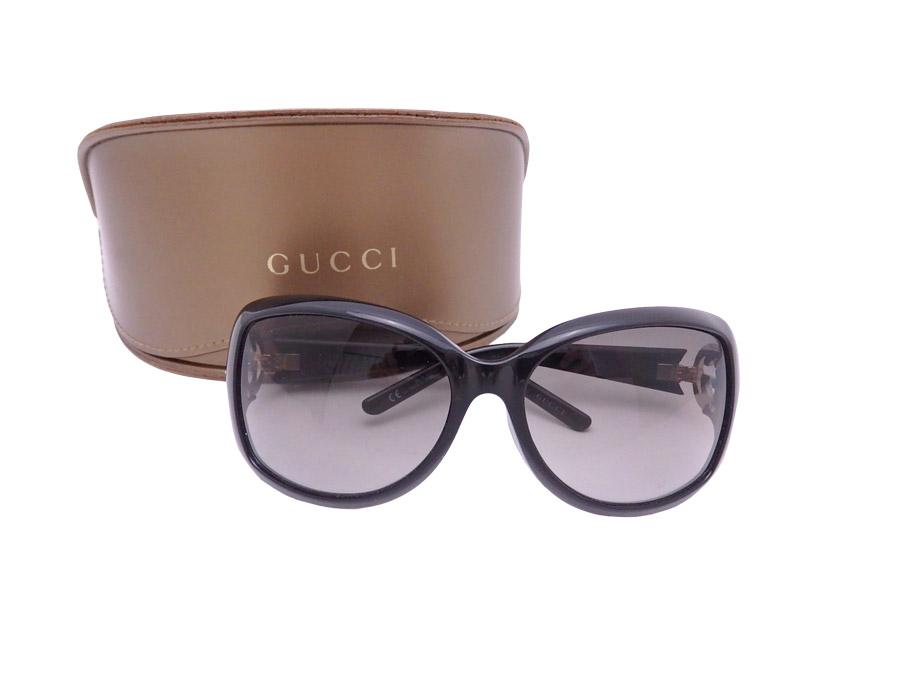 0fa3de6cde25 BrandValue: Gucci Gucci sunglasses GG logo black x brown plastic x gold  metal fittings x rhinestone 3068/F/S - e38927 | Rakuten Global Market