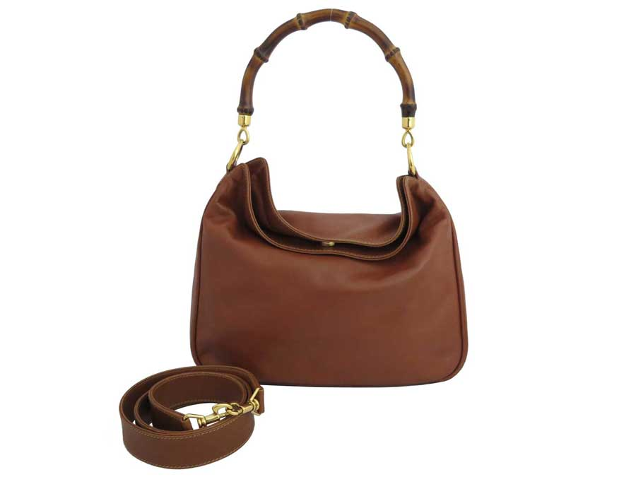 f4dd88f2e3 BrandValue: Gucci Gucci 2way bag bamboo light brown x gold metal fittings leather  shoulder bag handbag Lady's - e40595 | Rakuten Global Market