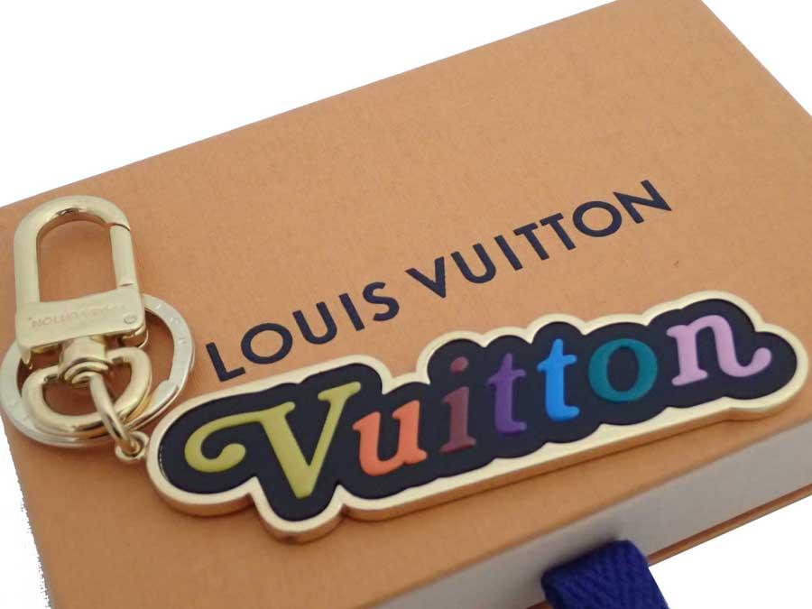 ルイヴィトン Louis Vuitton キーリング ポルト クレ ヴィトン ニュー ウェーブ ゴールドxマルチカラー 金属素材 キーホルダー バッグチャーム レディース M63747 【中古】【おすすめ】 - e41009