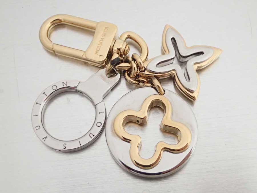 ルイヴィトン Louis Vuitton キーリング ポルトクレ アンソレンス シルバーxゴールド 金属素材 キーホルダー バッグチャーム レディース メンズ M66133 【中古】【おすすめ】 - e41011