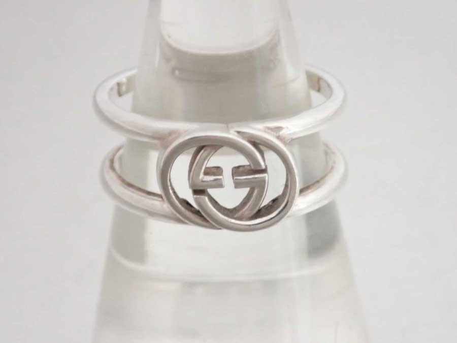 b3f44672d It is Gucci [Gucci] GG logo ring ring silver ring Lady's men silver Ag925  [soot] [used]