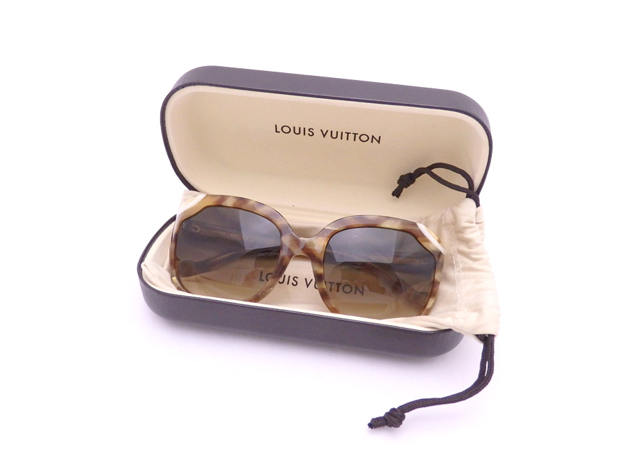 ルイヴィトン Louis Vuitton サングラス ベージュxグリッター プラスチックxゴールド金具 送料無料 Z0725E 【中古】【おすすめ】 - e39872