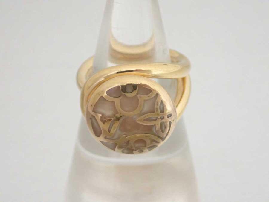ルイヴィトン Louis Vuitton リング バーグ セレスト ゴールドxベージュ 金属素材 指輪 【中古】【おすすめ】 - e40136