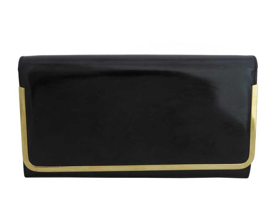 グッチ Gucci バッグ ロゴ ブラックxゴールド金具 エナメルレザー クラッチバッグ セカンドバッグ レディース 【中古】【おすすめ】 - e42394