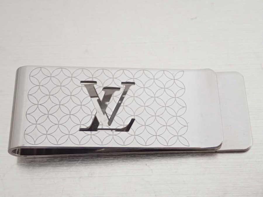 ルイヴィトン Louis Vuitton マネークリップ LVロゴ パンス・ビエ・シャンゼリゼ シルバー 金属素材 財布 札留め メンズ M65041 【中古】【おすすめ】 - e43933