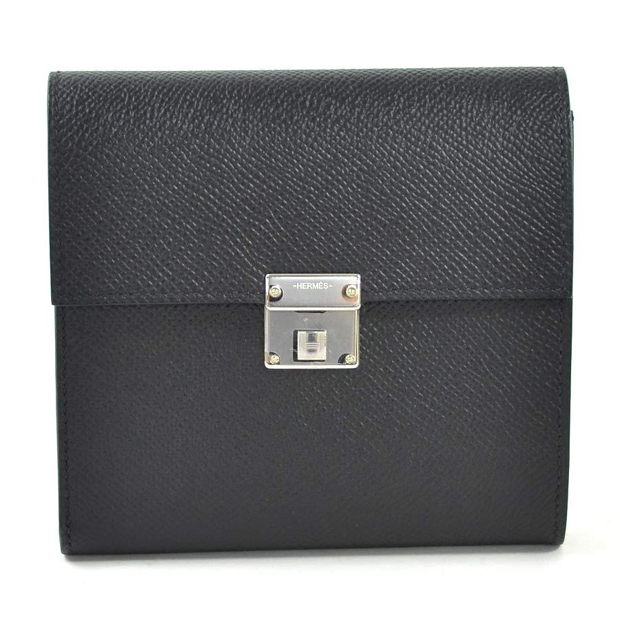 【未使用】【新品】エルメス 三つ折り財布 クリック12 ブラック ヴォーエプソン HERMES レディース メンズ プレミアム特集 - i0322