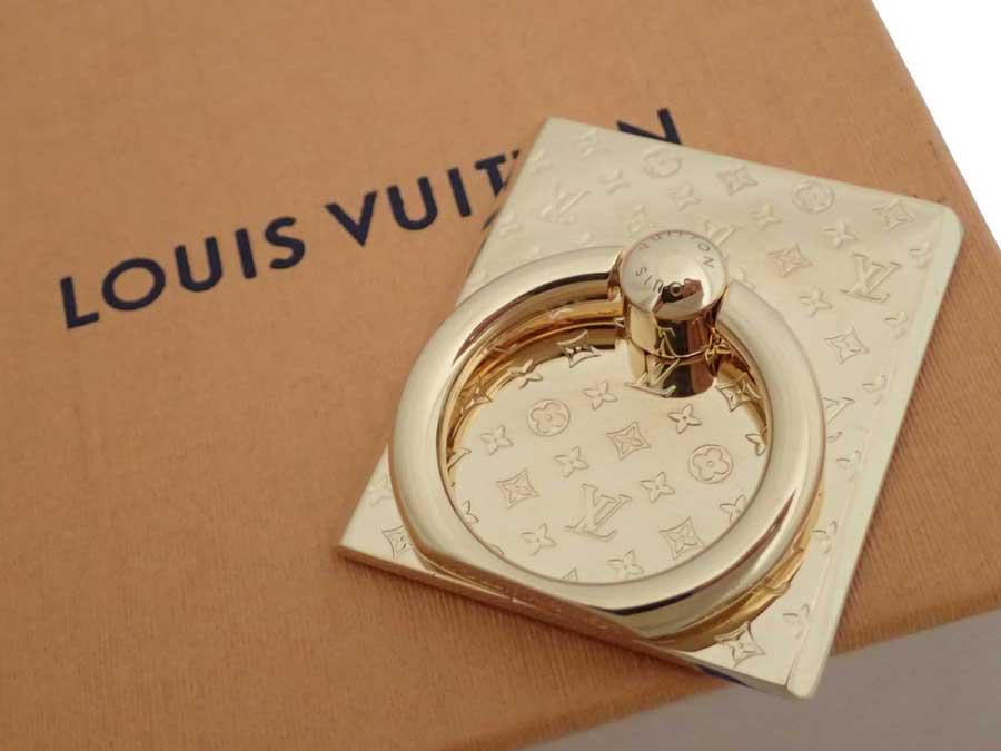 ルイヴィトン Louis Vuitton リングホルダー サポート テレフォン ナノグラム ゴールド 金属素材 スマホホルダー スマホグッズ レディース メンズ M64868 【中古】【おすすめ】 - e44507c