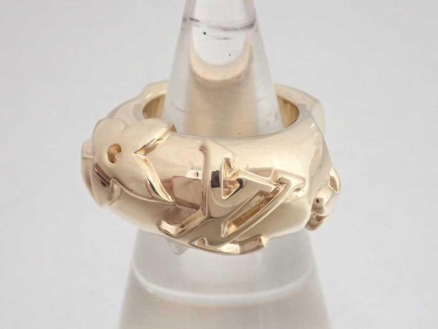 ルイヴィトン Louis Vuitton リング ゴールド 金属素材 指輪 ゴールドリング レディース M64467 【中古】【おすすめ】 - e44839d