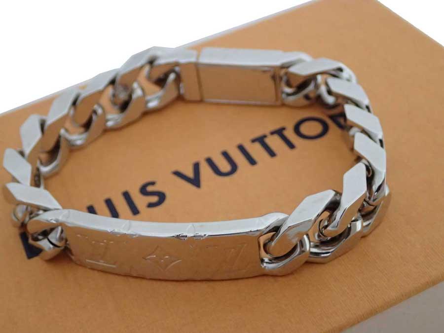 ルイヴィトン Louis Vuitton ブレスレット チェーンブレスレット モノグラム シルバー 金属素材 バングル チェーンブレス レディース メンズ M62486 【中古】【おすすめ】 - e45013c
