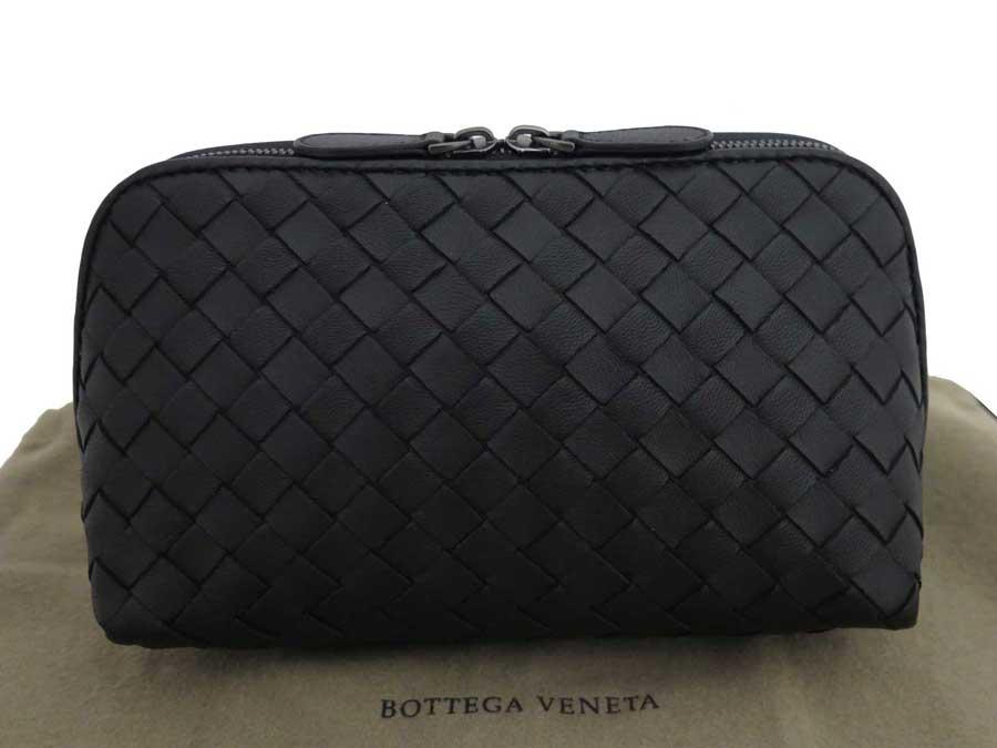 ボッテガヴェネタ イントレチャート ポーチ メイクポーチ 即納最大半額 新作多数 小物入れ レザー ブラック 中古 レディース おすすめ VENETA BOTTEGA メンズ e45111f -
