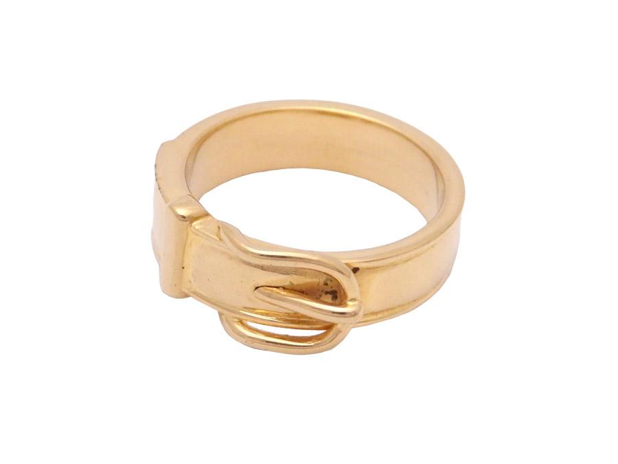 エルメス ベルトモチーフ 大好評です スカーフリング 金属素材 ゴールド 中古 おすすめ 売り込み e45284 レディース - HERMES