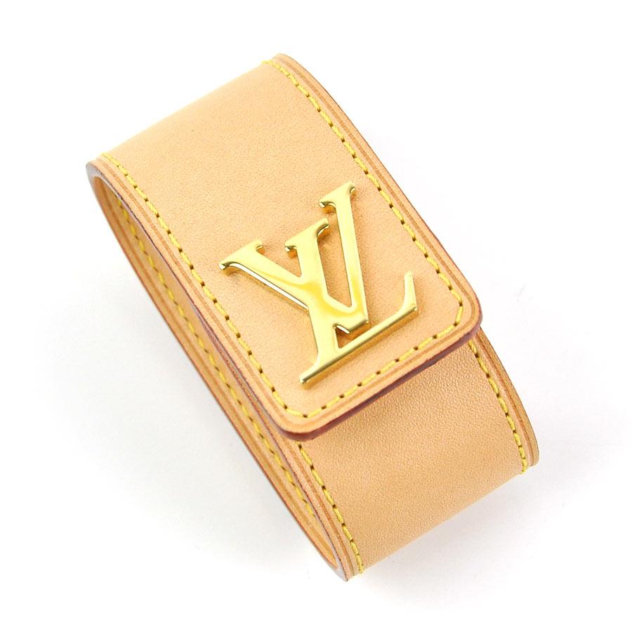 ルイヴィトン バッグホルダー ポルトサック ベージュxゴールド金具 ヌメ革x金属素材 Louis Vuitton レディース M54658 【中古】【定番人気】 - y14266b