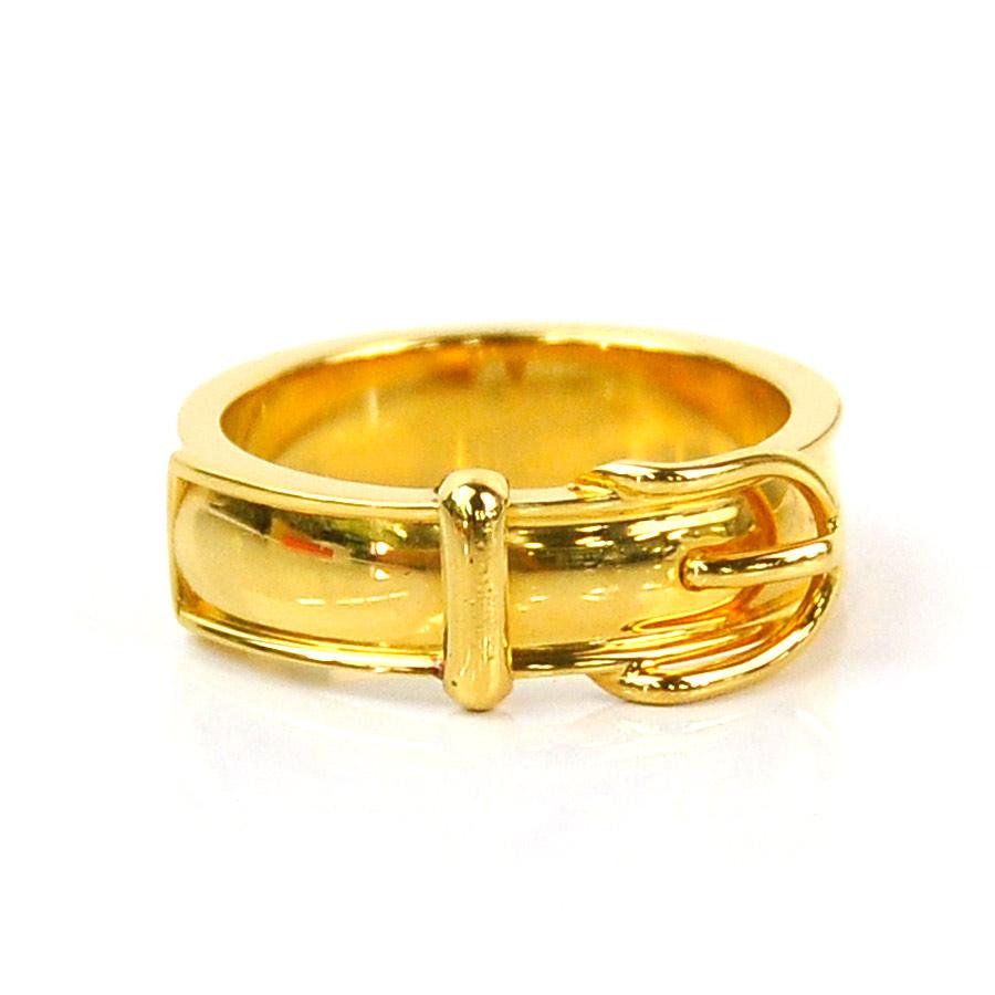 エルメス スカーフリング ベルトモチーフ 新作 金属素材 ゴールドカラー SALENEW大人気 中古 r7936a - HERMES レディース 定番人気