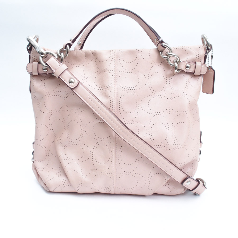 Coach  COACH  leather Brooke shoulder bag tote bag 2way bag lady pink  leather  used  constant seller popularity a0915dad09ce8