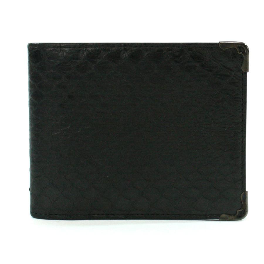 カルティエ Cartier 財布 パイソン ブラック パイソン調型押しレザー 札入れ 二つ折り財布 メンズ 【中古】【定番人気】 - v38449