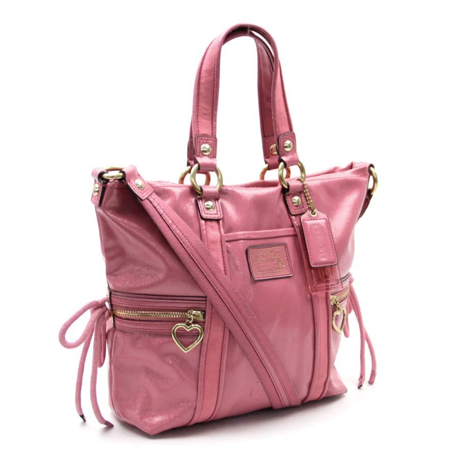 Brandvalue Coach Coach Bag Poppy Pink Patent Leather