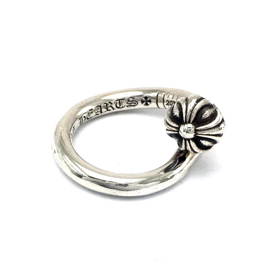 ball ring. chromic hertz chrome hearts accessories nail cross ball ring silver 925 men - v42022