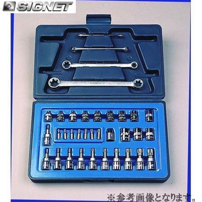 SIGNET 12835 3/8DR ヘクスローブソケットセット【シグネット】