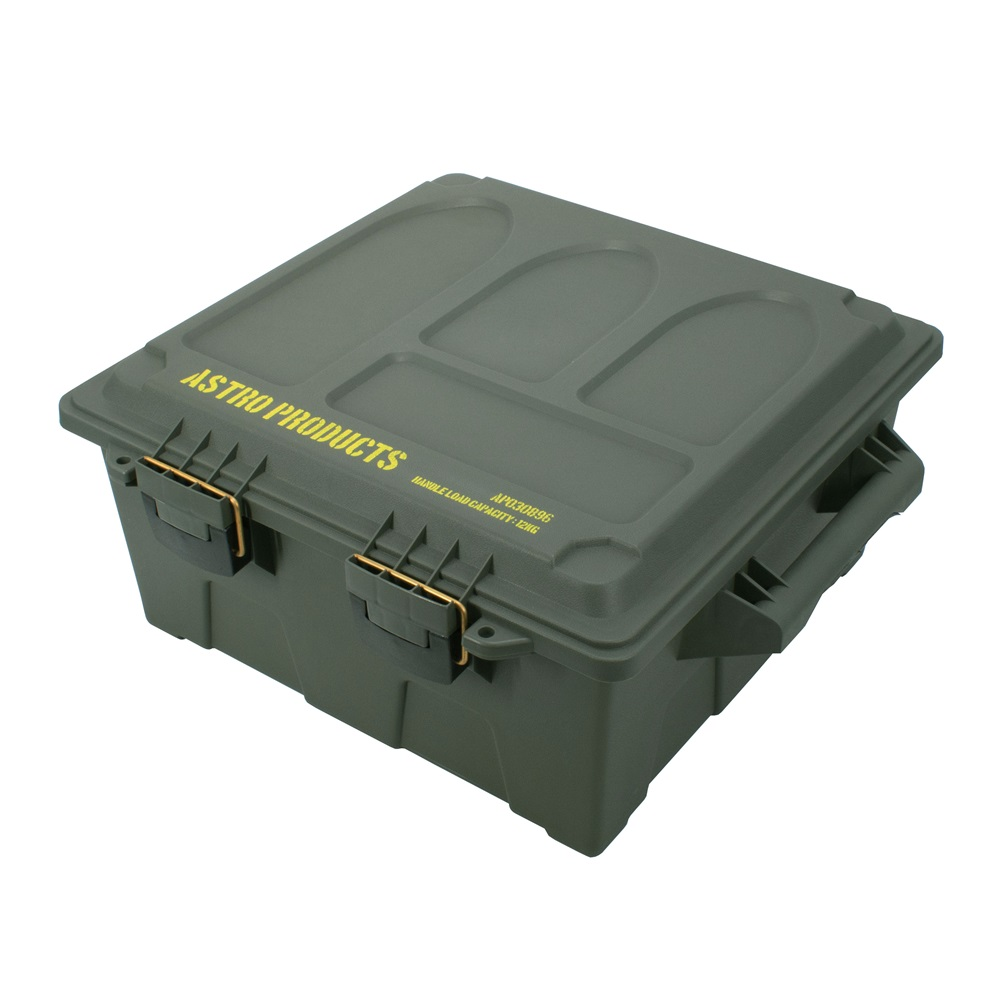 広くて丈夫 弾薬ケース型の収納ボックス AP プラスチックボックス XL OD BX896 箱 ボックス ミリタリー アウトドア おしゃれ 好評 直輸入品激安 弾薬ケース 弾薬箱 収納 アストロプロダクツ ミリタリ-ボックス 大きめ インテリア