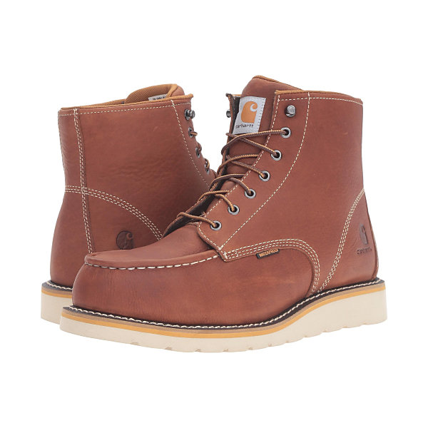 カーハート メンズ ブーツ&レインブーツ シューズ 6-Inch Steel Toe Waterproof Wedge Boot Tan Oil Tanned Leather