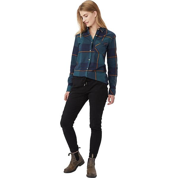 テンツリー レディース シャツ トップス Tentree Women's Kimberly LS Button Up Shirt Blue Mirage Plaid