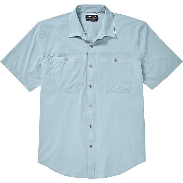 フィルソン メンズ シャツ トップス Filson Men's Alagnak SS Shirt Gulf Blue