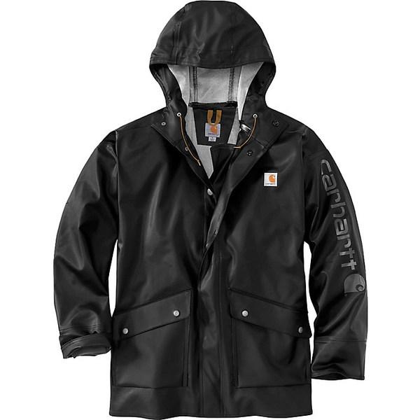 カーハート メンズ ジャケット&ブルゾン アウター Carhartt Men's Midweight Waterproof Rain Storm Coat Black