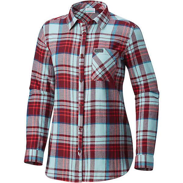 コロンビア レディース シャツ トップス Columbia Women's Simply Put II Flannel Shirt Rich Wine Plaid