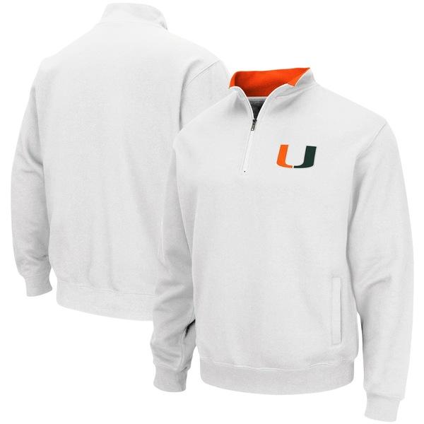 コロシアム メンズ ジャケット&ブルゾン アウター Miami Hurricanes Colosseum Tortugas Logo QuarterZip Pullover Jacket Black