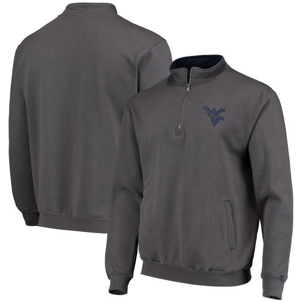 コロシアム メンズ ジャケット&ブルゾン アウター West Virginia Mountaineers Colosseum Tortugas Logo QuarterZip Jacket Charcoal