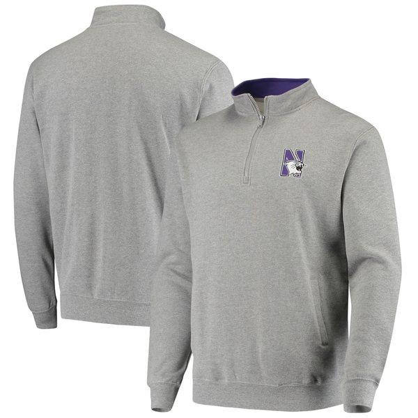 コロシアム メンズ ジャケット&ブルゾン アウター Northwestern Wildcats Colosseum Tortugas Logo QuarterZip Pullover Jacket Heathered Gray