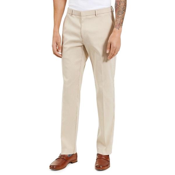 卸直営 トミー ヒルフィガー メンズ ボトムス カジュアルパンツ Tan Minicheck 全商品無料サイズ交換 Men's Modern-Fit バースデー 記念日 ギフト 贈物 お勧め 通販 Solid Flex TH Performance Pants Comfort Stretch