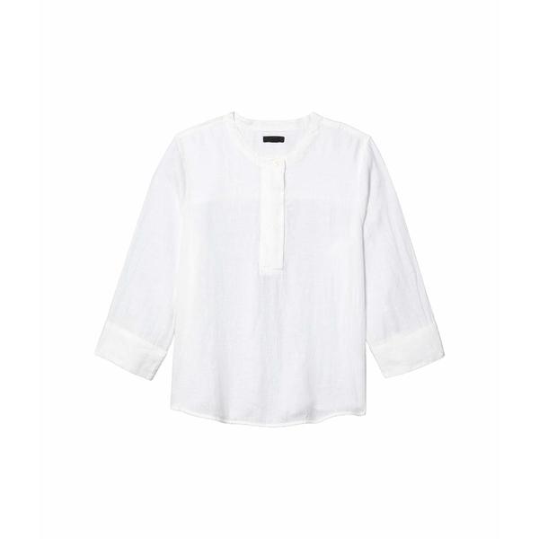 ジェイクルー レディース シャツ トップス Baude Tunic Top in Linen White