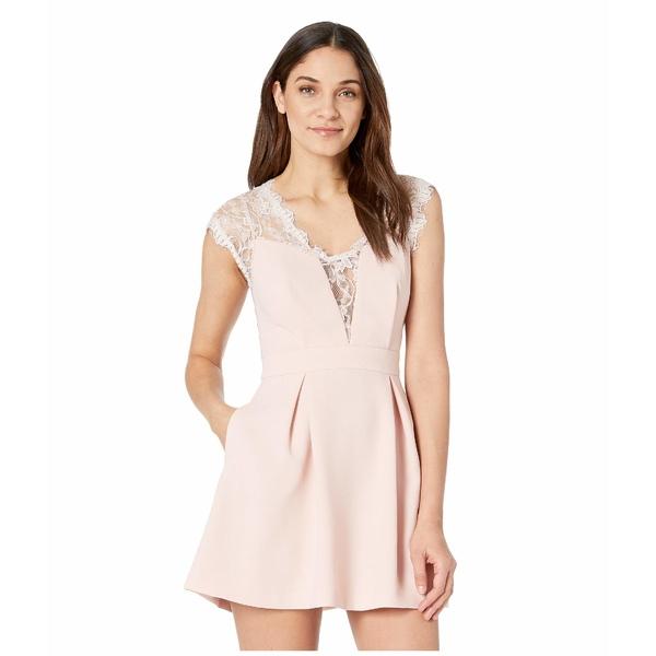 BCBジェネレーション レディース ワンピース トップス Sleeveless V-Neck Shirt Cocktail Dress GEF68B66 Rose Smoke