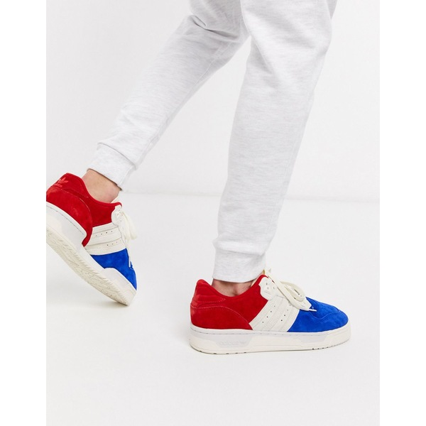 アディダスオリジナルス メンズ スニーカー シューズ adidas Originals rivalry low sneakers in tricolour suede Multi