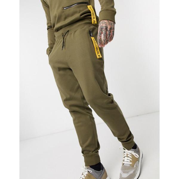 フューゴ メンズ カジュアルパンツ ボトムス HUGO Deasty sweatpants in khak Khaki