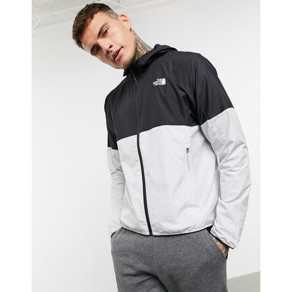 ノースフェイス メンズ ジャケット&ブルゾン アウター The North Face Flyweight jacket in gray/black Tin grey/tnf black