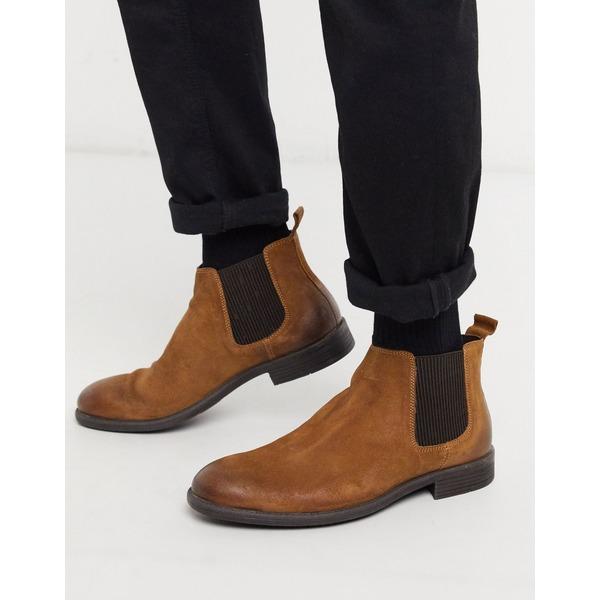 シルバーストリート メンズ ブーツ&レインブーツ シューズ Silver Street brown suede chelsea boot Brown