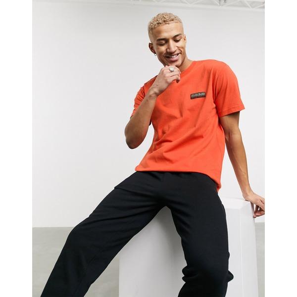 ナパピリ メンズ Tシャツ トップス Napapijri Sase t-shirt in orange Koi orange
