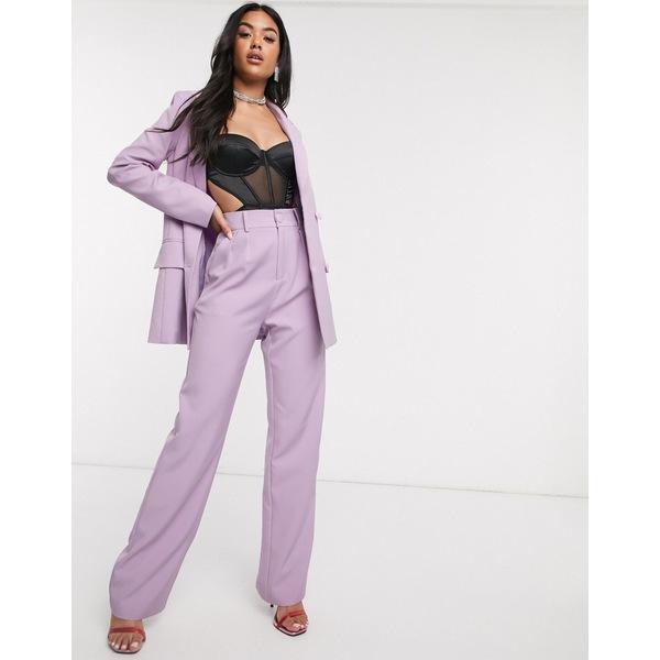 フォースレックレス レディース カジュアルパンツ ボトムス 4th + Reckless wide leg suit pants in lilac Lilac