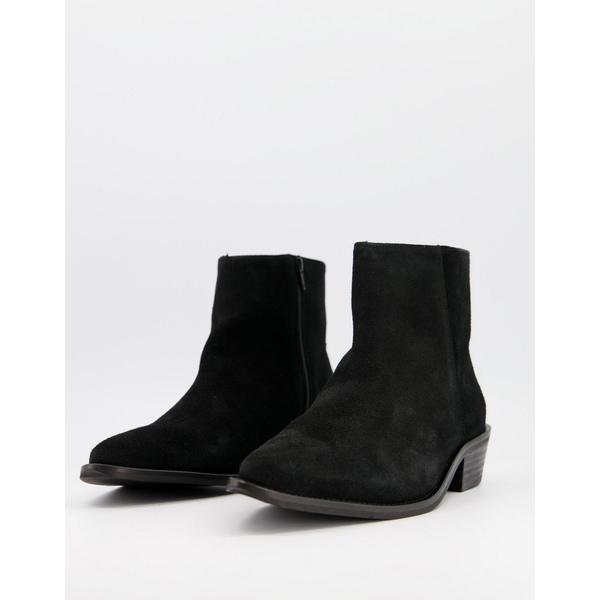 最新人気 セレクテッドオム メンズ ブーツ&レインブーツ シューズ Selected Homme suede suede ブーツ&レインブーツ Homme chelsea boot with cuban heel in black Black, サイクルベースあさひ:62de31e7 --- rishitms.com