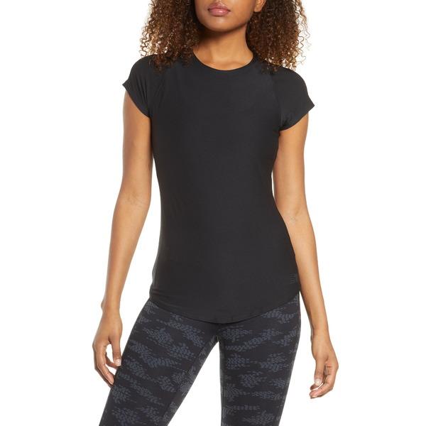 ニューバランス レディース Tシャツ トップス Transform Perfect T-Shirt Bk